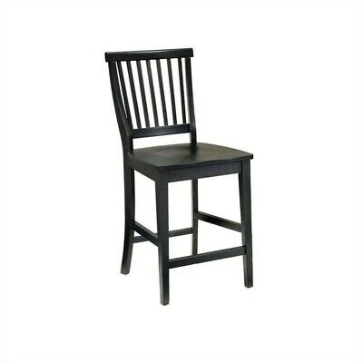 """Home Styles Arts & Crafts 24.5"""" Bistro Stool in Ebony"""