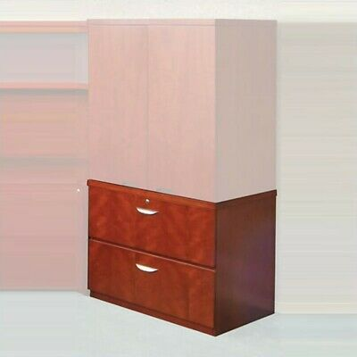 Safco Mira 2 Drawer Lateral Wood File With Unfinished Top
