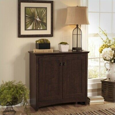 Pemberly Row 2 Door Low Storage Cabinet in Madison Cherry