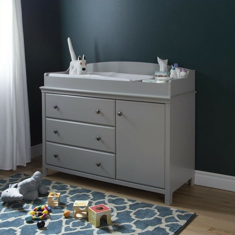 South Shore Cotton Candy Gray Changing Table