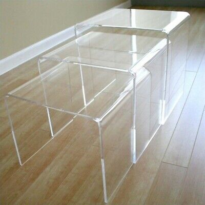 Table Display Stands in Clear (Set of 3)