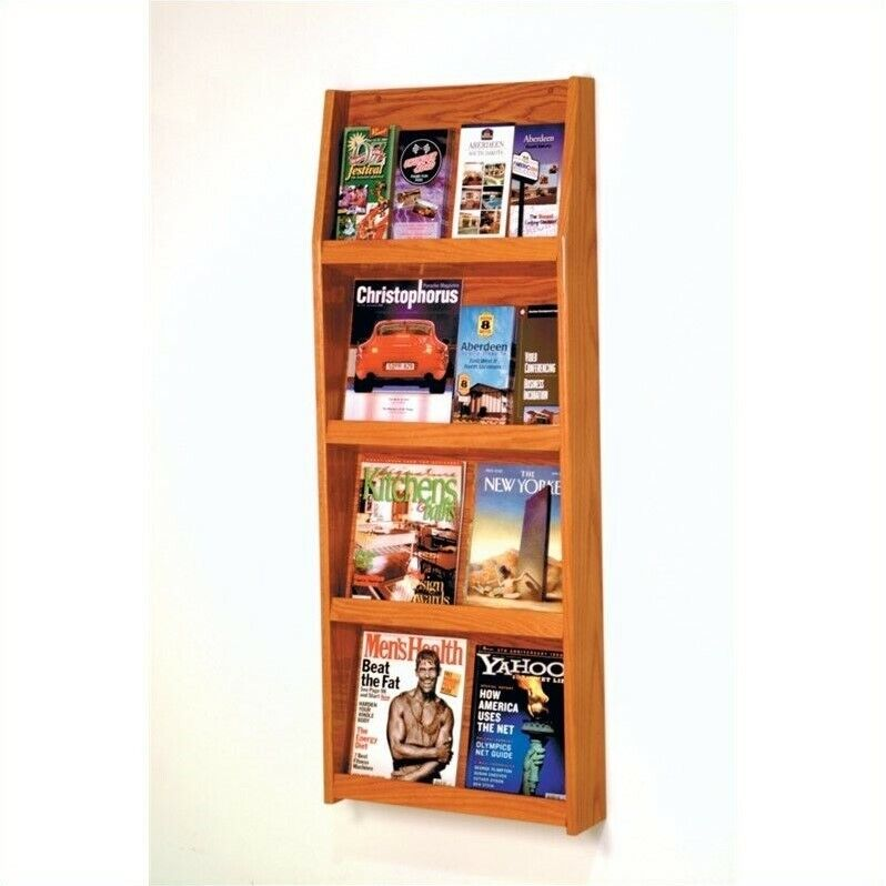 Wooden Mallet Literature Display in Medium Oak