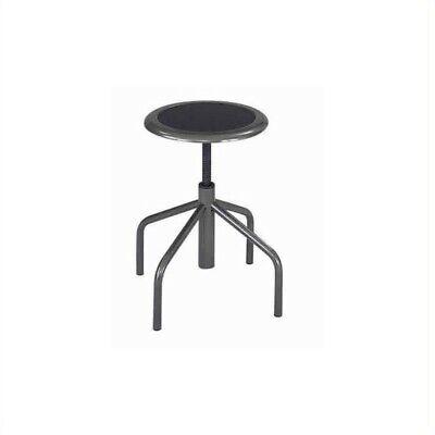 Safco Diesel Backless Low Base Industrial Drafting Chair In Black