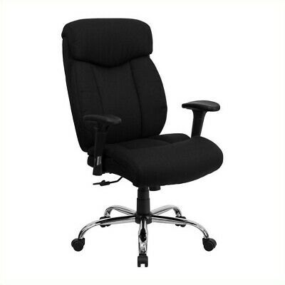 Scranton & Co Fabric Office Chair with Arms in Black