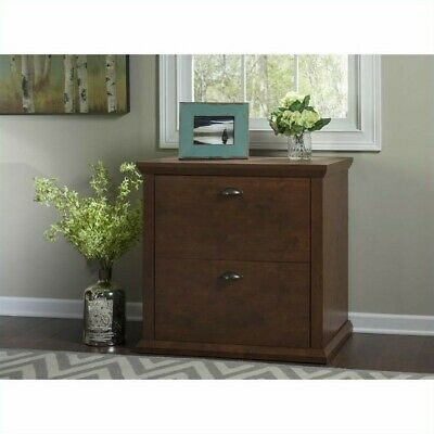 Bush Furniture Yorktown Lateral File Cabinet in Antique (Bush Cherry File Cabinet)