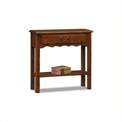 Traditional End Table in Medium Oak Finish