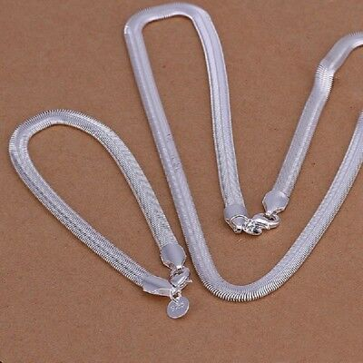 Halskette Armband Schmuckset 925er Silber plt und gestempelt Edel    (Set2)