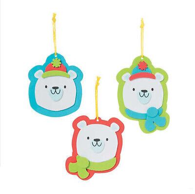 Polar Bear Winter Christmas Ornament Craft Kit for Kids Self-Adhesive ABCraft](Christmas Ornament Crafts For Kids)