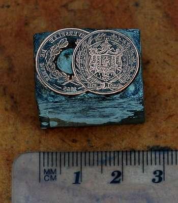 Weltausstellung Paris 1855 Galvano Druckstock Druckplatte Bleisatz Buchdruck