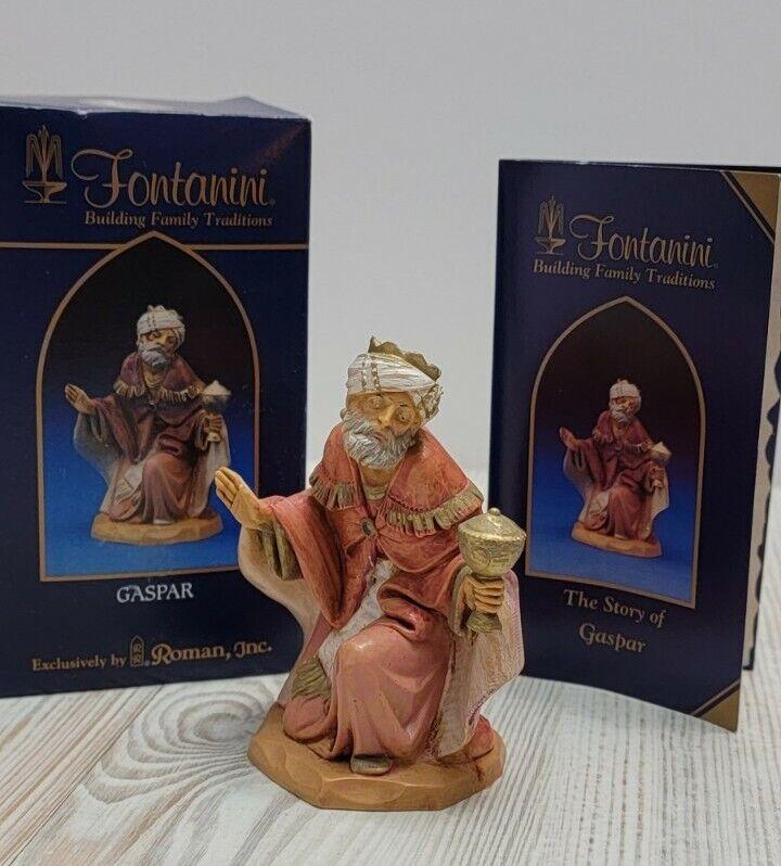 "2003 Fontanini Nativity Figure 5"" Wiseman King Gaspar #72515"