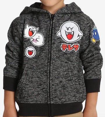 Super Mario Japanese BOO & Bob-Omb Kids Nintendo Licensed Hoodie Sz 7 NWT $42 Boo Kids Hoodie