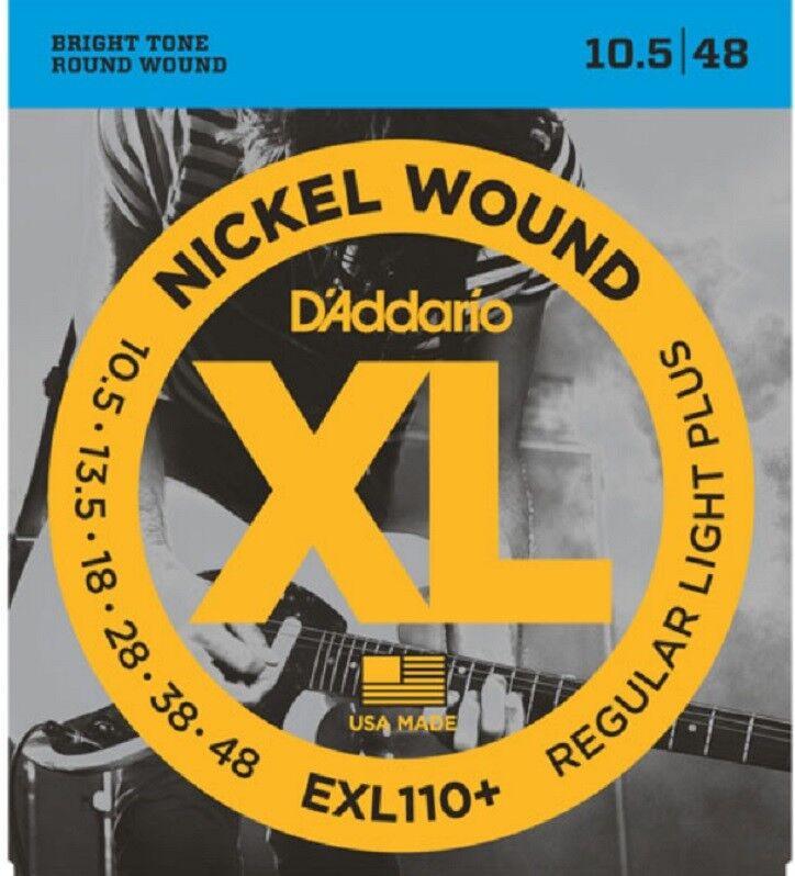 D'Addario EXL110+ Nickel Wound Electric Guitar Strings, Re