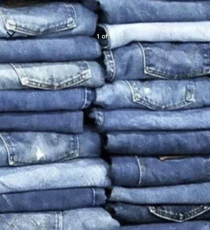 Wholesale Lot 30 Pairs Of Jeans & Jean Shorts - RESALE $3 Each