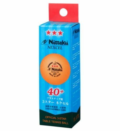 12 x Nittaku Nexcel 3-Star 40+ Orange Balls ITTF Made in Japan