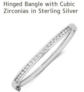 Bangle cubic zirconia in sterling silver from Michael Hills