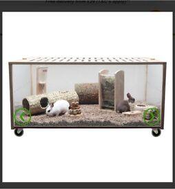 Eco green habitat cage for small animals rabbit,hamsters