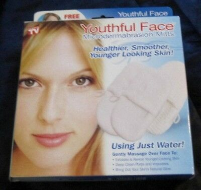Youth Face Microdermabrasion Mitts Healthier, Smoother, Younger Looking Skin! NI