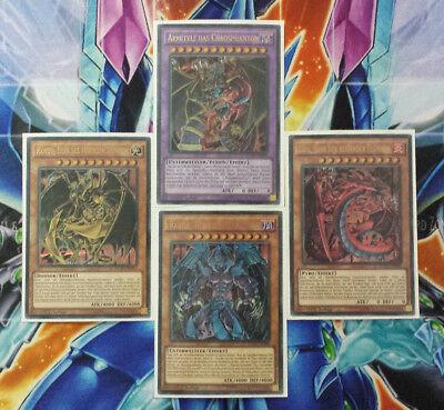 Yu-Gi-Oh! Götterkarten SET Uria,Hamon,Raviel + Armityle DUSA-DE096-099 ALLE TOP!