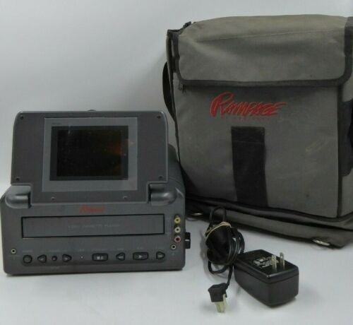 """Video 4"""" LCD Monitor and Video VHS Cassette Player for Car Rampage by Audiovox"""