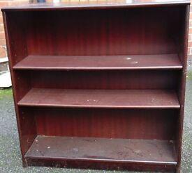 mahogany colour bookshelve