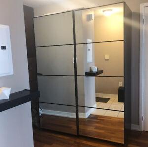 """IKEA Pax Wardrobe Black 59"""""""