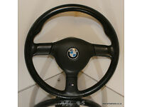 BMW E30 M-tech 2 Steering Wheel Very Nice condition E28 E34 325i Sport 535i 525i