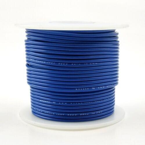 20 AWG Gauge Stranded BLUE 300 Volt, UL1007 PVC Hook Up Wire 100ft Roll 300V