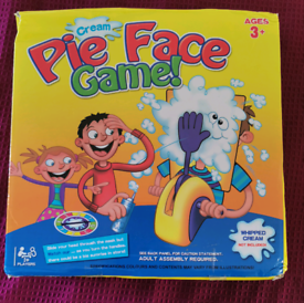 Pie Face Game - new with damaged box