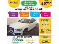 2015 WHITE AUDI A4 AVANT 1.8 TFSI 170 BLACK EDITION ESTATE CAR FINANCE FRM 67 PW