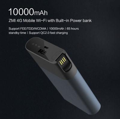 XIAOMI ZMI MF885 4G LTE WiFi Router Mobile Hotspot 10000mAh Battery Power Bank