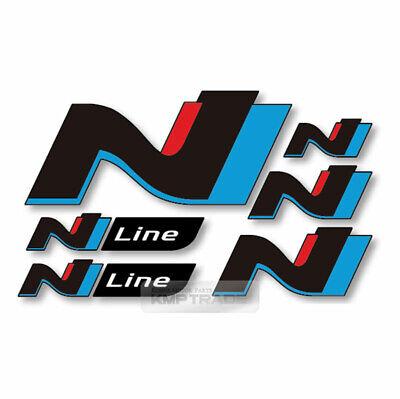 N Line Logo Decal Sticker UV Coating Black 6Pcs For HYUNDAI 2019-2020 Veloster