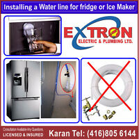 Water Line For Fridge, Licensed Plumber Brampton Mississauga
