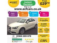 2014 WHITE AUDI A1 1.6 TDI SPORT DIESEL MANUAL 3DR CAR FINANCE FROM 29 P/WK