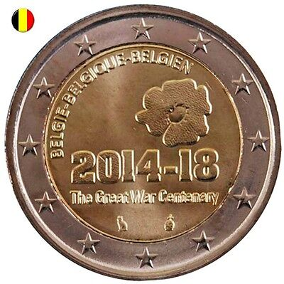 * LOT DE 5 PIECES - 2 EURO COMMEMORATIVE - UNC - BELGIQUE 2014