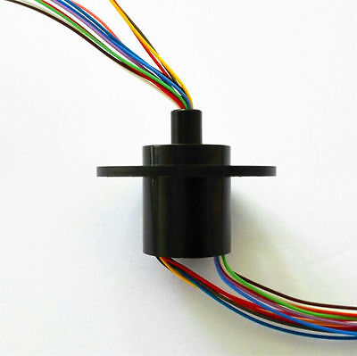 300rpm Capsule Slip Ring 12 Circuits 12 Wires 12 Connectors 22mm Test Equipment