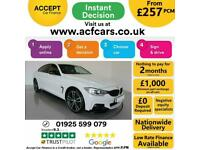 2016 WHITE BMW 420D GRAN COUPE 2.0 XDRIVE M SPORT AUTO CAR FINANCE FR £257 PCM
