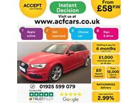 2015 RED AUDI A3 SPORTBACK 1.4 TFSI 150 S LINE AUTO 5DR CAR FINANCE FROM 58 P/WK