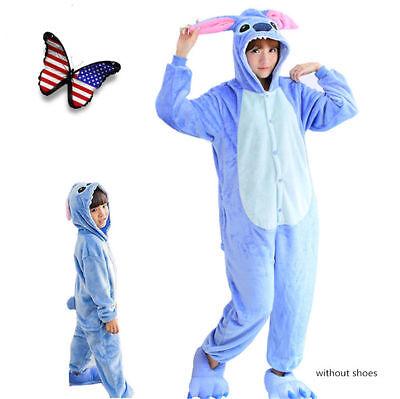 Blue Stitch Sleepwear Cosplay Krigurmi Adult/Kids Fanncy Party Dress Halloween  - Stitch Adult Costume