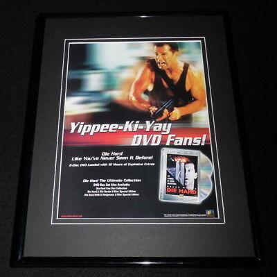 Die Hard 2001 Framed 11x14 ORIGINAL Advertisement Bruce Willis