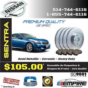★ FREINS ET DISQUES NEUFS ► Nissan • Maxima • Sentra (94-15) ◄