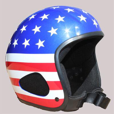 Jethelm, Titan -das Original, USA Flag, Glanz, Motorrad,Biker,Chopper,Bobber