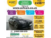 2017 BLACK BMW 640D CONVERTIBLE 3.0 M SPORT 2DR AUTO CAR FINANCE FR £498 PCM