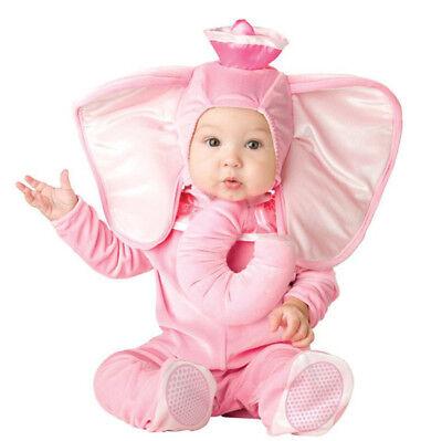 Pink Elephant Costume Infant Baby Girls Anime Cosplay Toddlers Clothing Set - Girls Elephant Costume