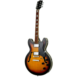GLEN BURTON SEMI HOLLOW BODY ELECTRIC GUITAR