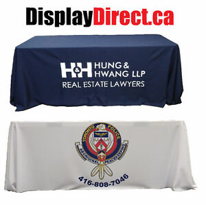 Custom Table Throws | Table Covers | Tradeshow Displays