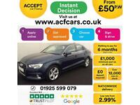 2016 BLUE AUDI A3 SALOON 1.6 TDI 110 SPORT DIESEL MANUAL CAR FINANCE FROM 50 P/W