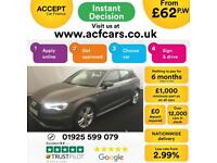 2015 GREY AUDI A3 SPORTBACK 1.6 TDI 110 S LINE AUTO 5DR CAR FINANCE FROM 62 P/WK