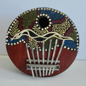 Thumb Piano -handmade, gourd -7 keys - Tuneable
