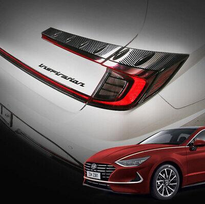 Carbon Black Rear Tail Light Lamp Molding Garnish for HYUNDAI 2019-2020 Sonata