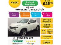 2011 WHITE NISSAN JUKE 1.6 DIG-T ACENTA SPORT PETROL HATCH CAR FINANCE FR £25 PW